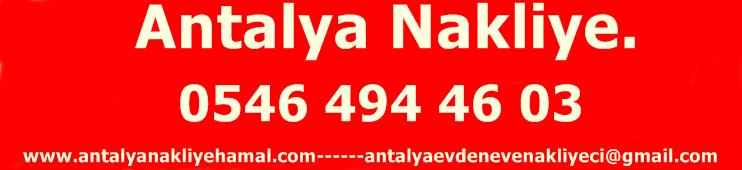 Antalya Nakliye | 0546 494 4603 | Antalya Evden Eve Nakliyat|Antalya Nakliyeci|